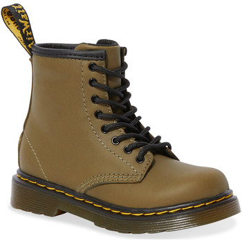 Zapatos Mujer Botas urbanas Dr Martens 1460 T Dms Olive Romario Smoother Finish Verde