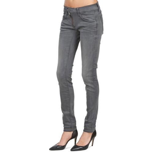 Textil Skinny Slim star Vaqueros Zip G Lynn Mid Azul Mujer Raw xBWdCoer