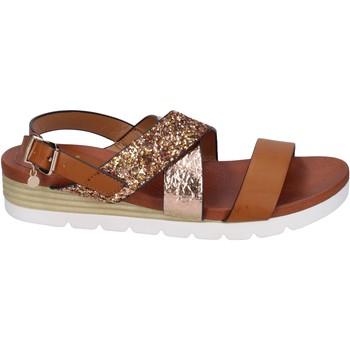 Zapatos Mujer Sandalias Rocco Barocco sandalias glitter cuero sintético marrón