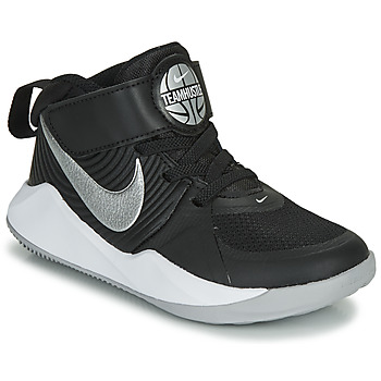 Zapatos Niño Multideporte Nike TEAM HUSTLE D 9 PS Negro / Plata