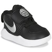 Zapatos Niño Baloncesto Nike TEAM HUSTLE D 9 TD Negro / Plata