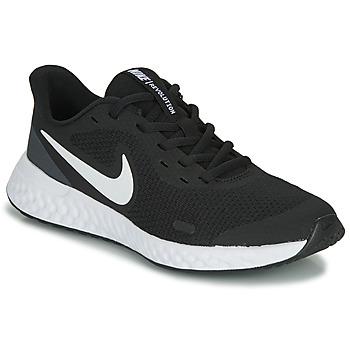 Zapatos Niños Multideporte Nike REVOLUTION 5 GS Negro / Blanco