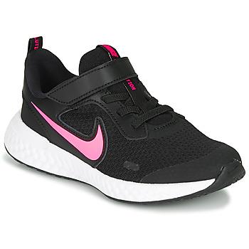 Zapatos Niña Multideporte Nike REVOLUTION 5 PS Negro / Rosa