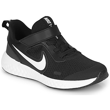 Zapatos Niños Multideporte Nike REVOLUTION 5 PS Negro / Blanco