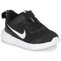 Zapatos Niños Zapatillas bajas Nike REVOLUTION 5 TD Negro / Blanco