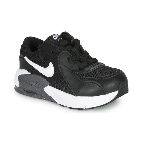 Zapatos Niños Zapatillas bajas Nike AIR MAX EXCEE TD Negro / Blanco