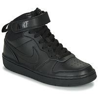 Zapatos Niños Zapatillas altas Nike COURT BOROUGH MID 2 GS Negro
