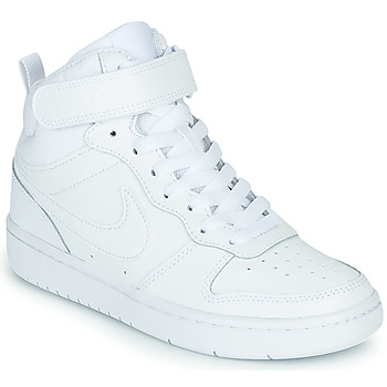 Zapatos Niños Zapatillas altas Nike COURT BOROUGH MID 2 GS Blanco