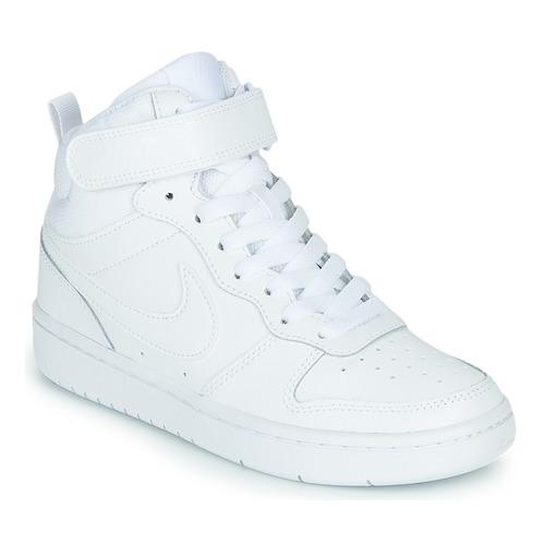 Zapatos Niños Zapatillas altas Nike COURT BOROUGH MID 2 GS Blanco