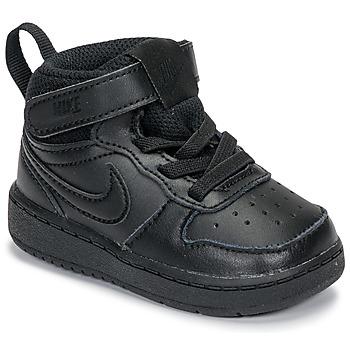 Zapatos Niños Zapatillas altas Nike COURT BOROUGH MID 2 TD Negro