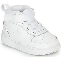 Zapatos Niños Zapatillas altas Nike COURT BOROUGH MID 2 TD Blanco