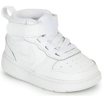 Zapatos Niños Zapatillas bajas Nike COURT BOROUGH MID 2 TD Blanco