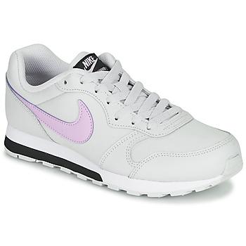 Zapatos Niña Zapatillas bajas Nike MD RUNNER GS Blanco / Rosa