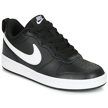 Zapatos Niños Zapatillas bajas Nike COURT BOROUGH LOW 2 GS Negro / Blanco