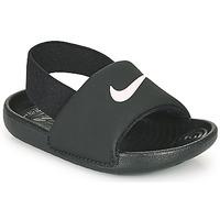 Zapatos Niños Chanclas Nike KAWA TD Negro