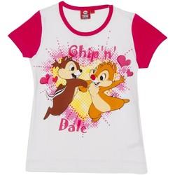 textil Niña Camisetas manga corta Disney Camiseta m/Corta Daisy Rosa