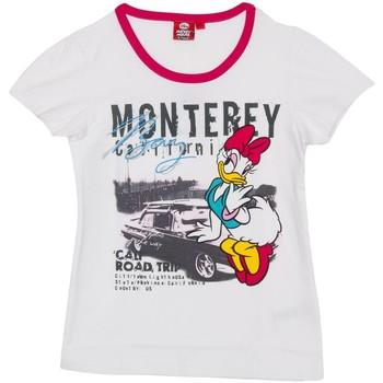 textil Niña camisetas manga corta Disney Camiseta m/Corta Daisy Blanco