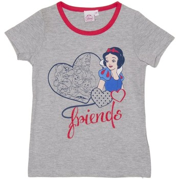 textil Niña Camisetas manga corta Disney Camiseta m/Corta Principesse Gris