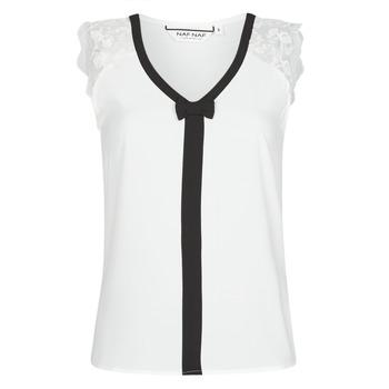 textil Mujer Tops / Blusas Naf Naf CORAZON Blanco