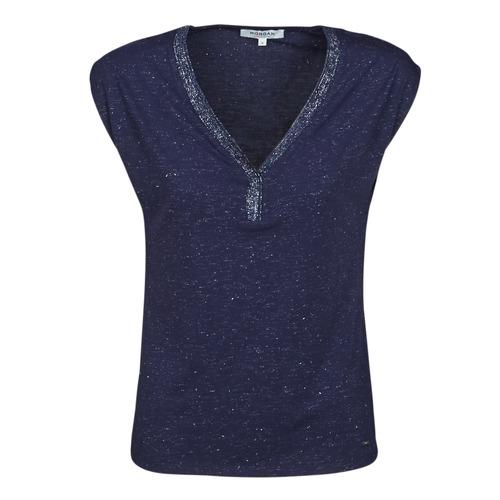 textil Mujer Camisetas manga corta Morgan DMAYA Marino