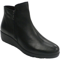 Zapatos Mujer Botas Pepe Menargues Bota mujer media caña con cremallera negro