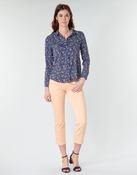 textil Mujer Pantalones con 5 bolsillos Freeman T.Porter LOREEN NEW MAGIC COLOR Coral-rosa