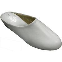 Zapatos Mujer Pantuflas Deisidro Zapatillas mujer piel abierta atrás esta blanco