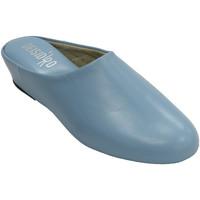 Zapatos Mujer Pantuflas Deisidro Zapatillas mujer piel abierta atrás esta azul