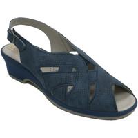 Zapatos Mujer Sandalias Made In Spain 1940 Sandalias mujer goma empeine muy cómoda azul