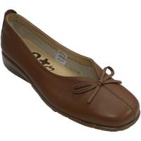 Zapatos Mujer Mocasín 48 Horas Manoletina mujer abertura empeine con la marrón