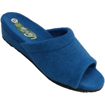 Zapatos Mujer Pantuflas Vanity Chancla estar casa mujer pala lisa plant azul