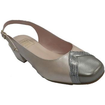 Zapatos Mujer Sandalias Roldán Zapato vestir mujer abierto por detrás e beige