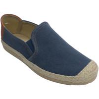 Zapatos Hombre Pantuflas Made In Spain 1940 Zapatilla hombre con puntera y ribete es azul