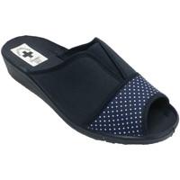Zapatos Mujer Pantuflas Nevada Chanclas mujer punta y talón abierta elá azul