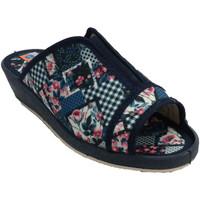Zapatos Mujer Pantuflas Calzacomodo Chanclas mujer abierta punta y talón elá azul