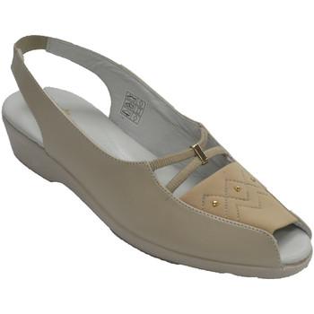 Zapatos Mujer Mocasín Doctor Cutillas Sandalias mujer abiertas punta y talón p beige