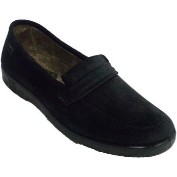 Zapatos Mujer Pantuflas Doctor Cutillas Zapatilla mujer invierno muy ancha negro