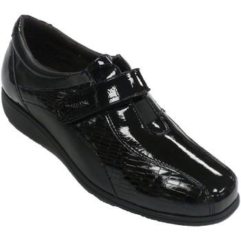 Zapatos Mujer Mocasín Doctor Cutillas Zapato mujer especial plantillas piel y negro