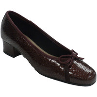 Zapatos Mujer Zapatos de tacón Roldán Zapato mujer tipo manoletinas con tacón violeta