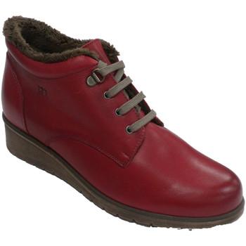 Zapatos Mujer Botas de caña baja Pepe Menargues Bota cordones mujer con forro interior rojo
