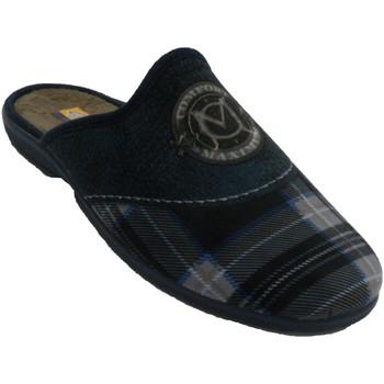 Zapatos Hombre Pantuflas Aguas Nuevas Zapatillas hombre abiertas detrás cuadro azul