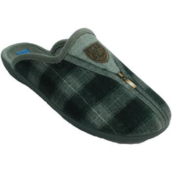 Zapatos Hombre Pantuflas Made In Spain 1940 Zapatilla invierno hombre abierta detrás gris