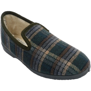 Zapatos Hombre Pantuflas Calzacomodo Zapatilla cuadros estar casa hombre cerr beige
