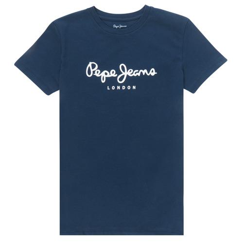 textil Niño Camisetas manga corta Pepe jeans ART Marino