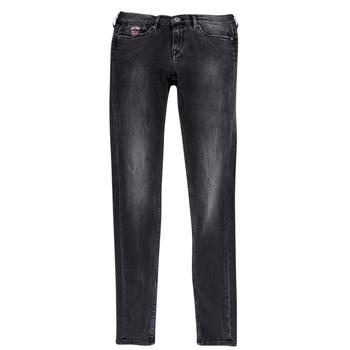 textil Niña vaqueros slim Pepe jeans PAULETTE Negro