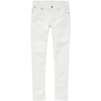 textil Niña vaqueros slim Pepe jeans PIXLETTE Blanco
