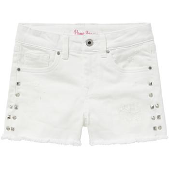 textil Niña Shorts / Bermudas Pepe jeans ELSY Blanco