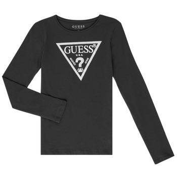 textil Niña Camisetas manga larga Guess GARICE Negro