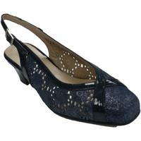 Zapatos Mujer Sandalias Trebede Zapato vestir mujer calado abierto detrá azul