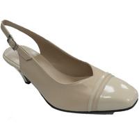 Zapatos Mujer Sandalias Trebede Zapatos vestir mujer abierto atrás tacón beige